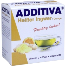 ADDITIVA HEISSER INGWER+ORANGE PULVER, 120 G